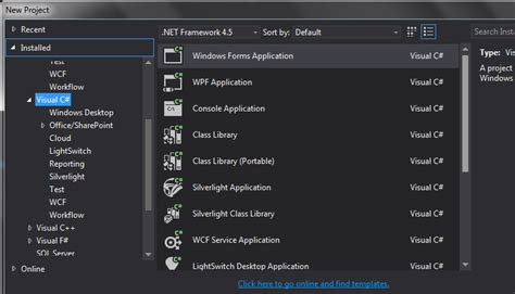android templates for visual studio 2013 visual studio 2013 no web template