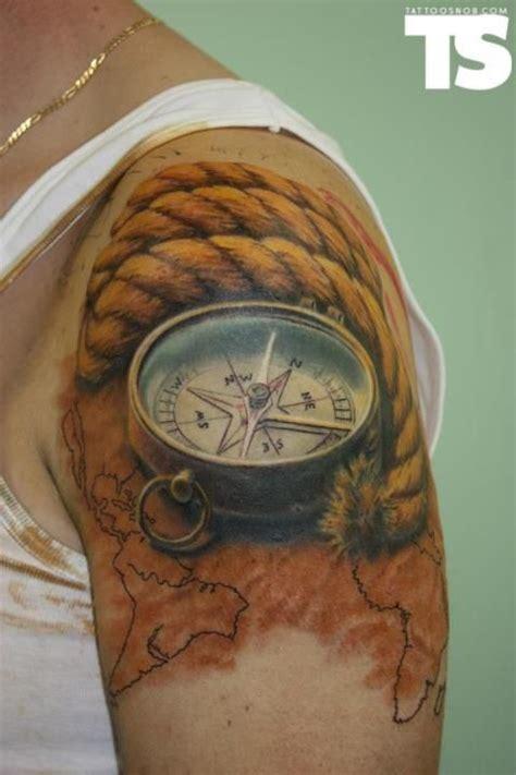 tattoo compass travel realistic tattoo compass tattoo rope tattoo sailer