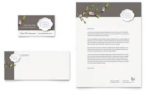 wedding planner business card amp letterhead template design