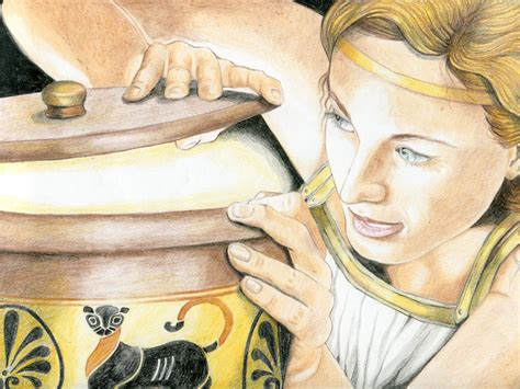 mito il vaso di pandora miti greci illustrati per bambini libermanet