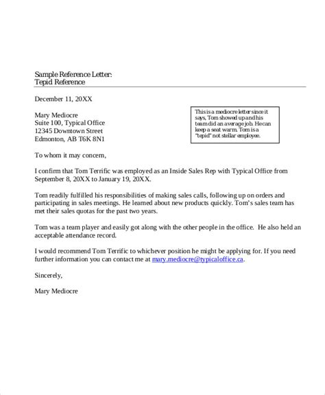 Reference Letter Of Work Experience reference letters