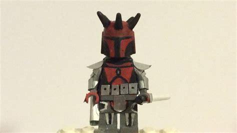 Topeng Starwars Darth Maul Handmade custom lego wars darth maul mandolorian