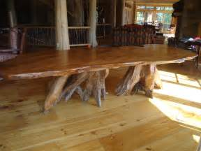 Dining Table With Root Base Rustic Dining Table Live Edge Wood Slabs Littlebranch Farm