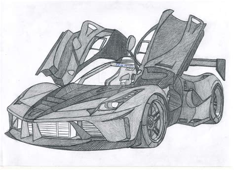ferrari laferrari sketch ferrari laferrari fxxr by jmig3 on deviantart
