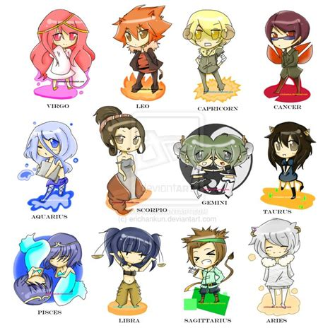 anime zodiac signs calendar 1000 images about anime zodiac and other fun things on