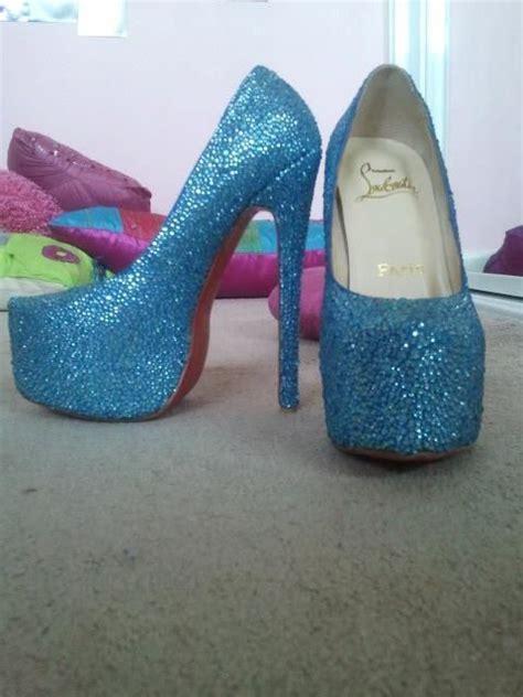 Prewalker Heels Sparkling Blue baby blue sparkly heels shoes