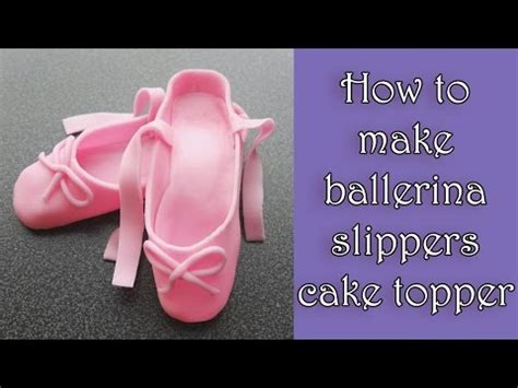 How to make fondant ballerina slippers tutorial / Jak