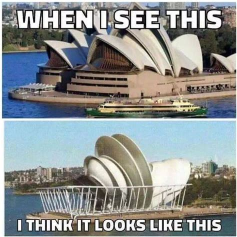 Sydney Meme - look alike of the day sydney opera house and a dish rack