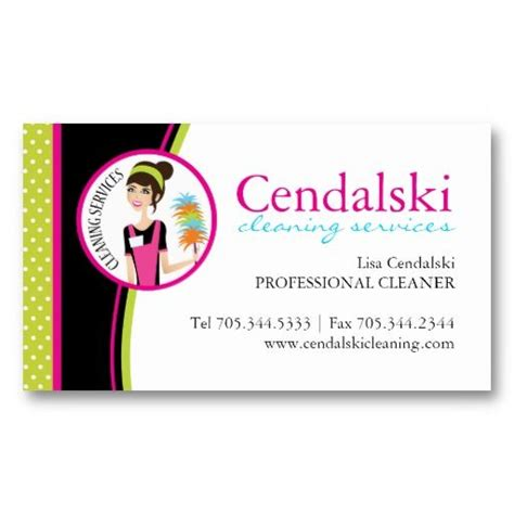 colorful business card house cleaning business cards