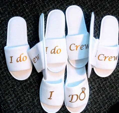 i do slippers personalised wedding bridesmaid bridal slippers i do