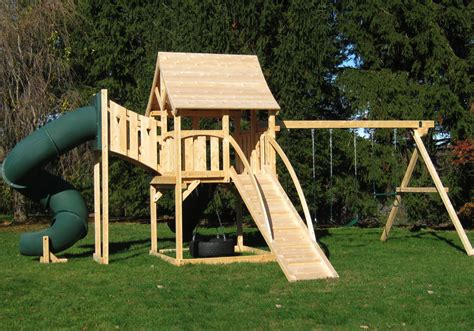 large wooden swing sets cedar swing sets the kelton deluxe play set