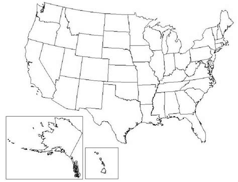 printable us map blank map quiz united states