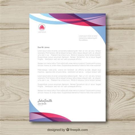 letterhead template gradient style vector