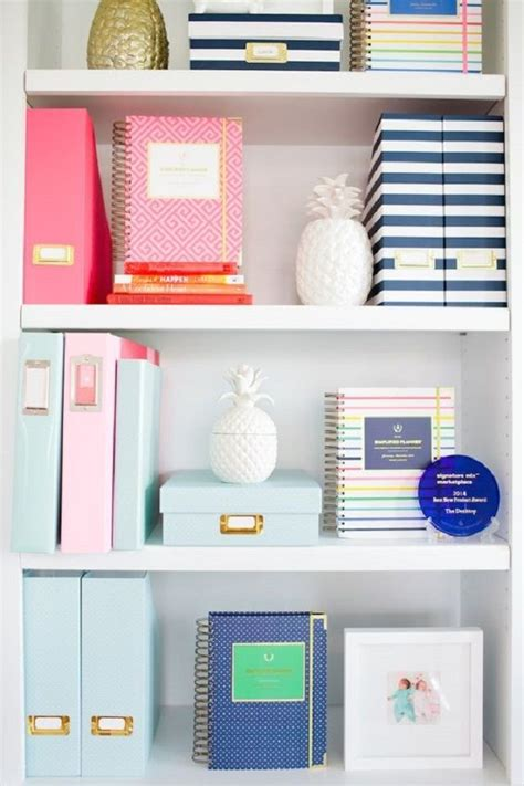office organization ideas for desk best 25 bookshelf organization ideas on
