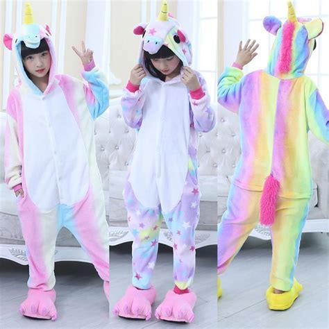 Piyama Rainbow Panda by Unisex Rainbow Unicorn Kigurumi Pajamas Animal