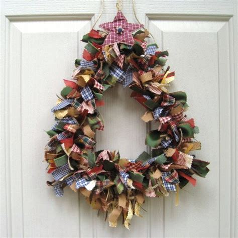holiday christmas wreath front door christmas decor homespun