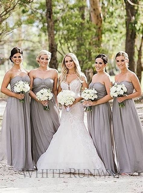 Grey Bridesmaid Dress by 17 Best Images About Grey Bridesmaids On Lace