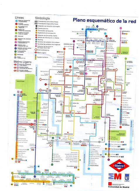 madrid metro map madrid metro system map images