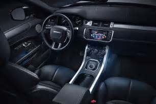 Land Rover Evoque Interior 2016 Range Rover Evoque Shows Off New Look Diesel Engine