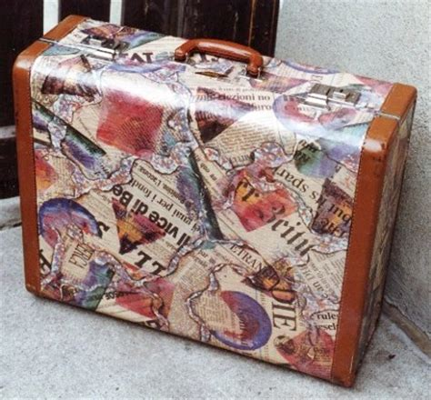How To Decoupage A Suitcase - before other stuff katewares