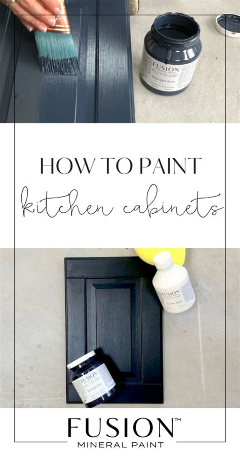Paint For Melamine Kitchen Cabinets by How To Paint Melamine Kitchen Cabinets Fusion Mineral Paint