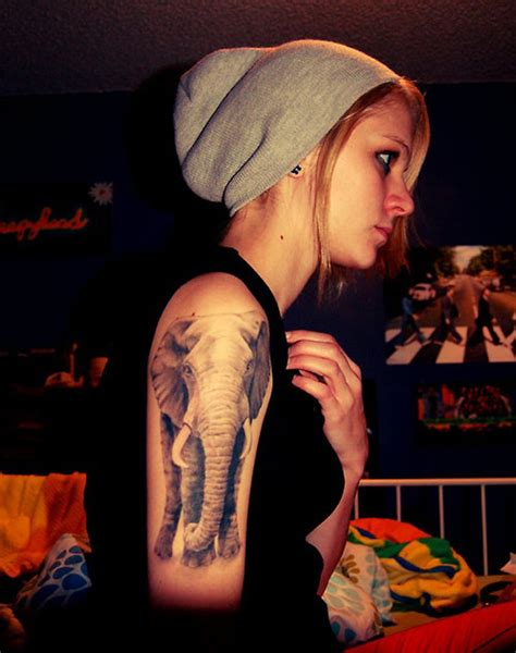 elephant tattoo girl 55 elephant tattoo ideas viral pictures of the day 55