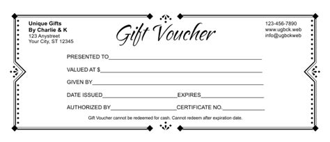 Redemption Card Template by Gift Voucher Template 3
