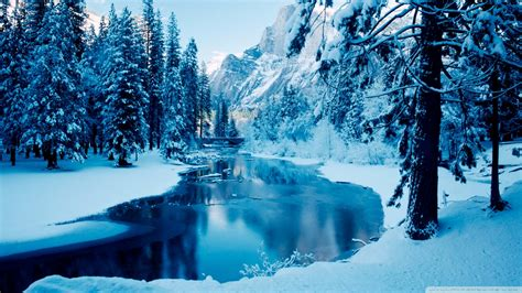 download blue winter landscape wallpaper 1920x1080