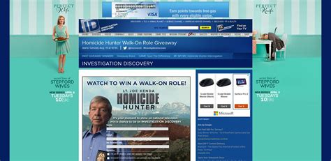 Id Discovery Giveaway - investigation discovery homicide hunter walk on role giveaway at