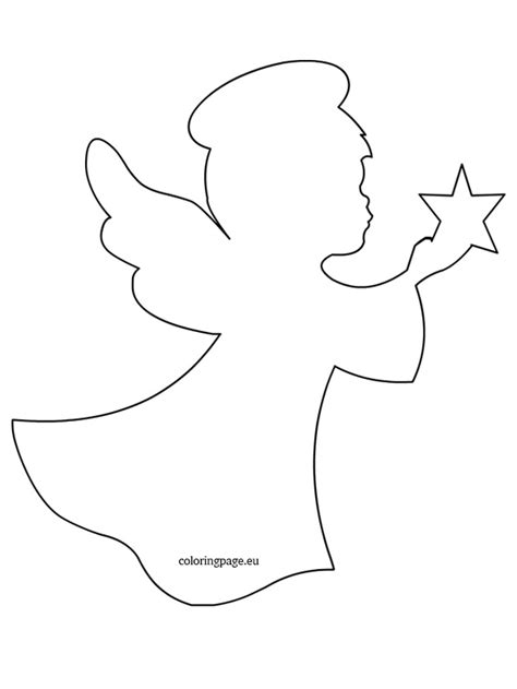 printable angel template related coloring pageschristmas angelchristmas angel