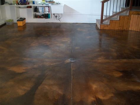Concrete Garage Floor Stain by Stained Cement Floors Porch Traditional With Chest Curved