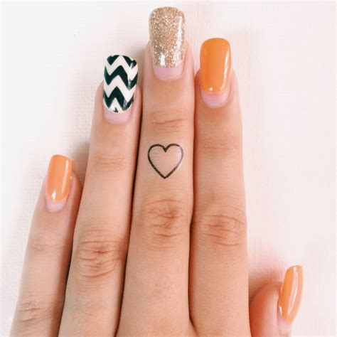 girly finger tattoos simple creative temporary finger tattoos girly design