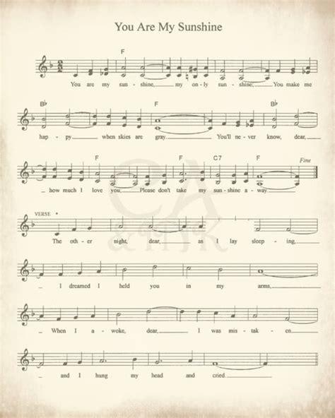 printable sheet music you are my sunshine sheet music art lullaby sheet music sheet music prints