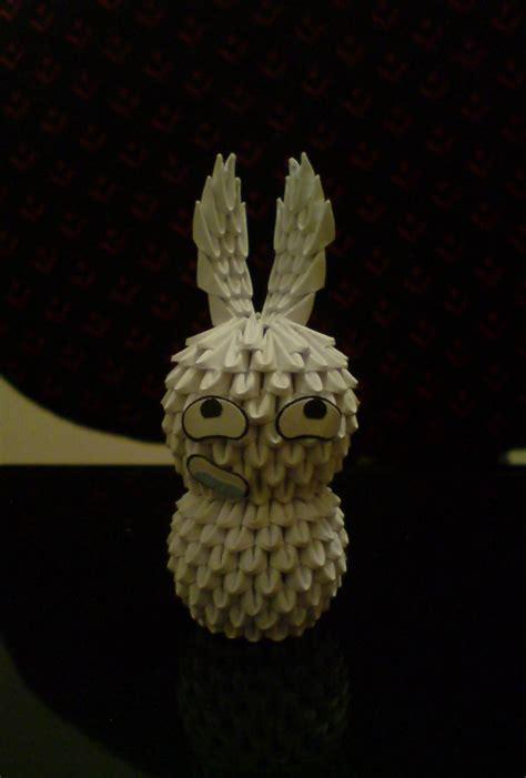 3d origami bunny 3d origami bunny 5 by spkmw on deviantart