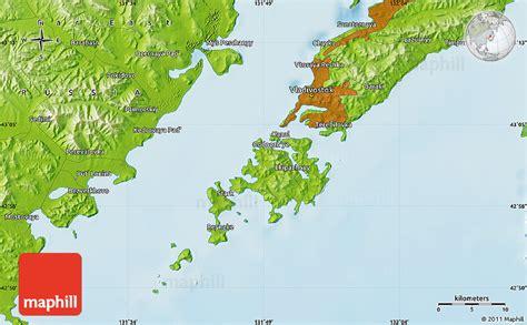 vladivostok on world map physical map of vladivostok