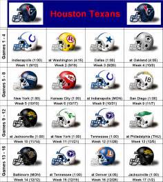 simononsports 2010 houston texans printable schedule