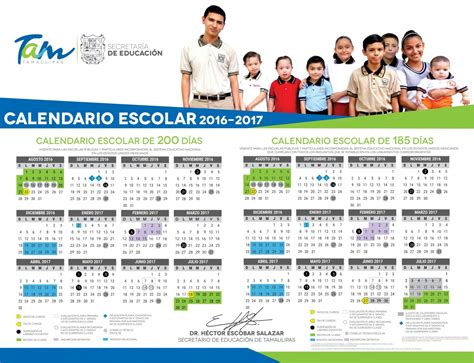 sep publica dos calendarios que regirn el ciclo escolar 2016 2017 calendario para el ciclo escolar 2016 2017 sep calendario