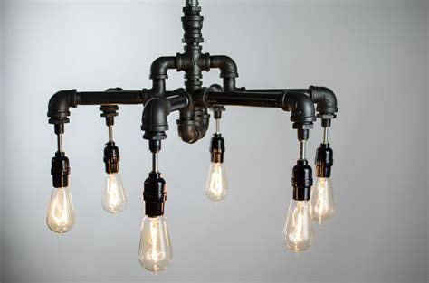 Industrial Chic Chandelier Buy A Crafted 6 Edison Bulbs Industrial Lighting Chandelier Made To Order From Chicwatts