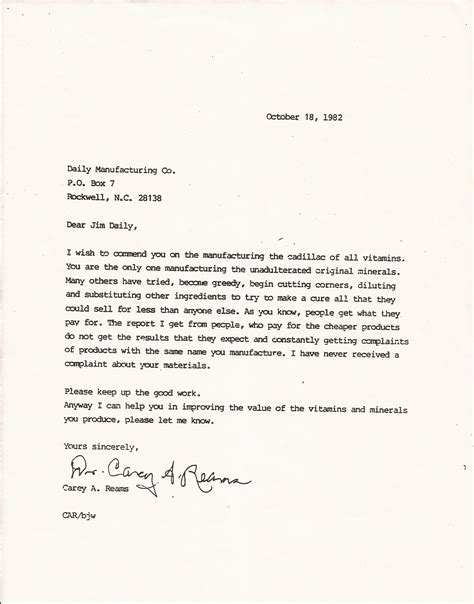 Endorsement Letter Rbti Reams Biological Theory Of Ionization