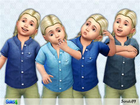 denim shirt for toddler denim shirt for toddler boys by sonata77 at tsr 187 sims 4