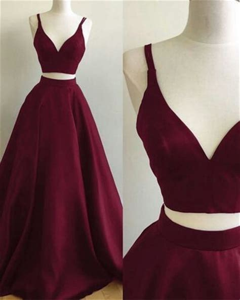 Dress Sweet Two Color Mix Import Premium Quality burgundy prom dresses two pieces prom dresses formal dresses wedding dresses sweet 16