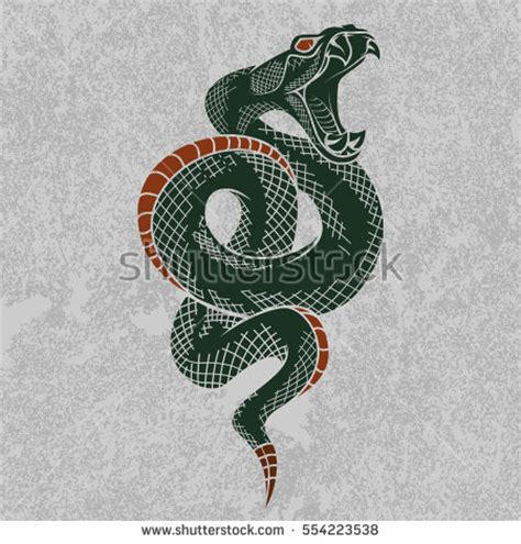 viper snake tattoo designs viper snake vector illustration stock vector