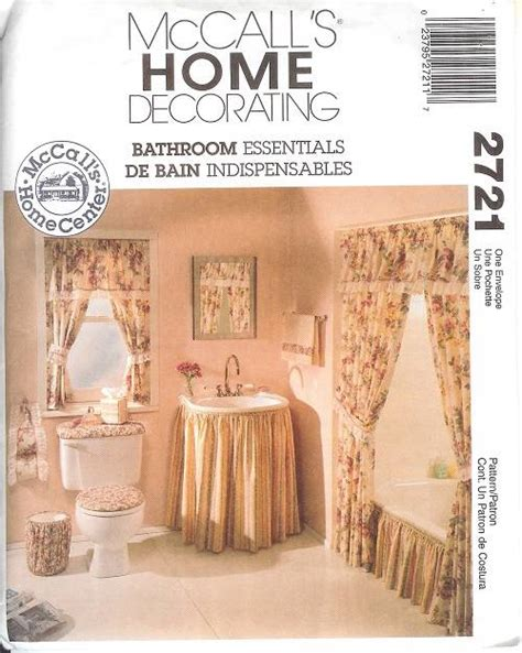shower curtain sewing pattern oop bathroom essentials sewing pattern mccall s simplicity