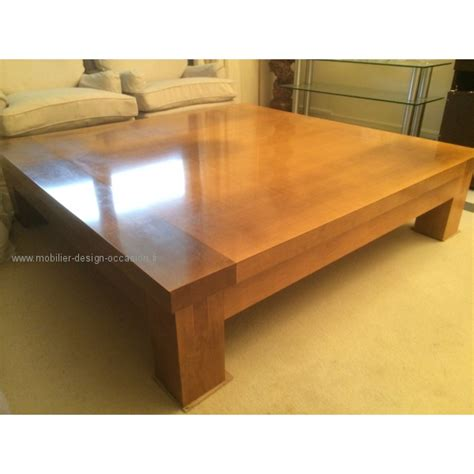 Table basse Christian Liaigre en bois massif de Sycomore