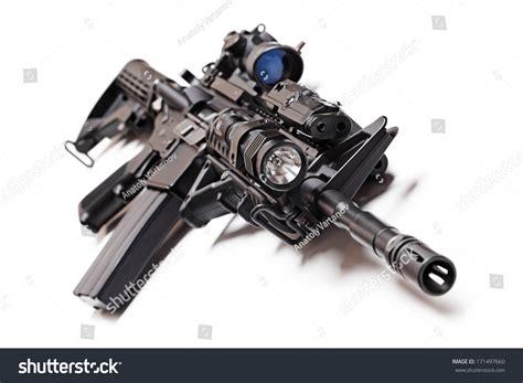 ar 15 tactical light ar15 m4a1 tactical carbine sniper sight stock photo