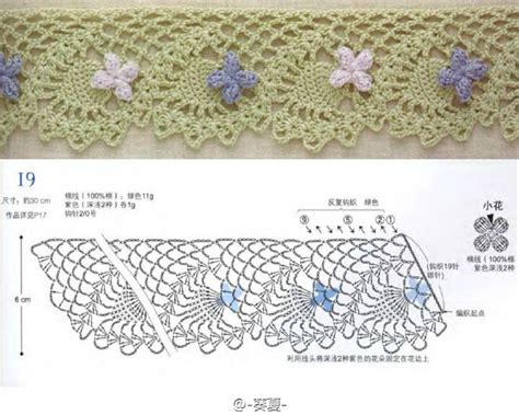 crochet lace diagram 6 lace crochet edges with flowers crochet kingdom