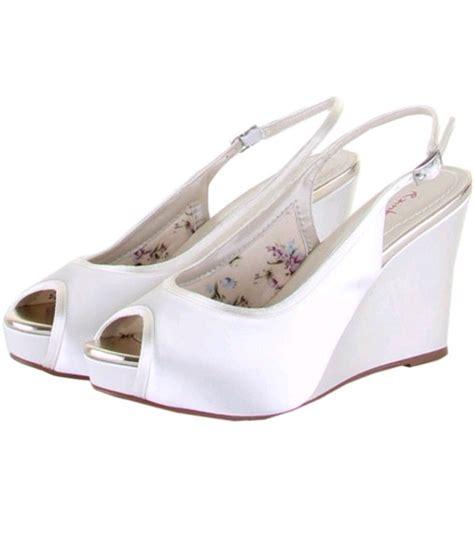 loretta dyeable bridal peep toe wedge shoe wedding nites