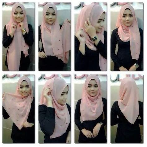 tutorial jilbab segi empat simple simple segi empat hijab tutorial for hijabers 2016 17