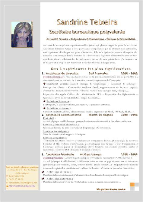Lettre De Motivation Vendeuse En Téléphonie Debutant modele cv secretaire cv anonyme