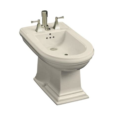 bidet lowes shop kohler memoirs 15 in h almond elongated bidet at